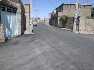 آسفالت جاده اصلی روستای کریز